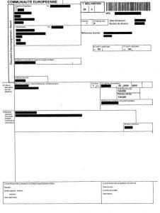 EX1 (документ, подтверждающий факт вывоза товара за пределы ЕС заверенный таможенными органами)